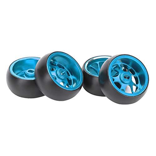 RC Metall Radnabe Reifen Auto Ersatzteile Geeignet für Wltoys k969 1/28 Scale Fernbedienungszubehör(Blau)