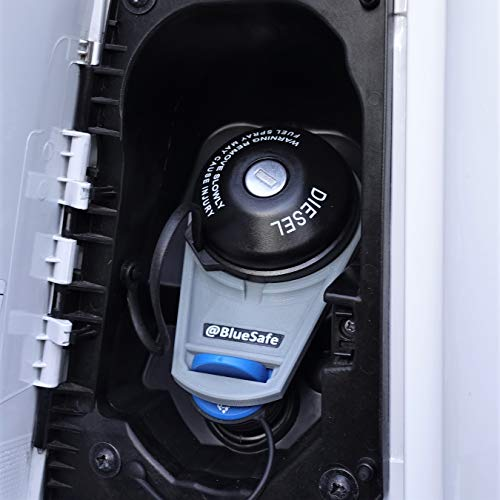 AdBlue Verschluss Deckel Sicherung Tanksicherung für Tankverschluss Tankdeckel (Typ Citroen Jumper, AdBlueSafe Grau)