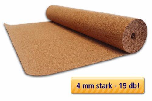 15m² Qualitäts Trittschalldämmung Rollenkork Tepcor® - Stärke 4mm, Breite 1m, Länge 15m