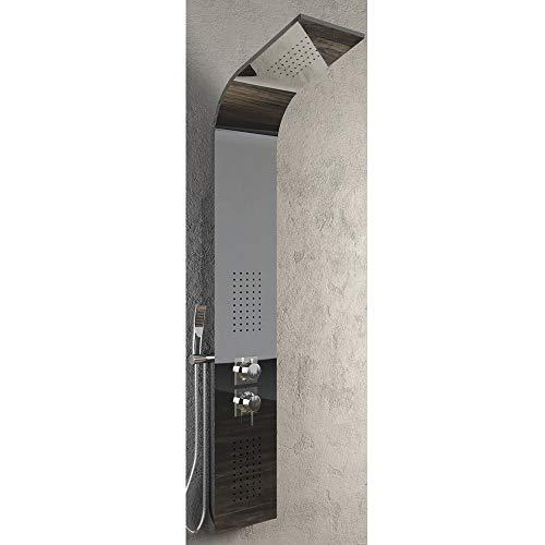 Colonna Doccia 001B 3 Funzioni Acciaio Inox 2 Bocchette Idro Lombari L20xP44xH140