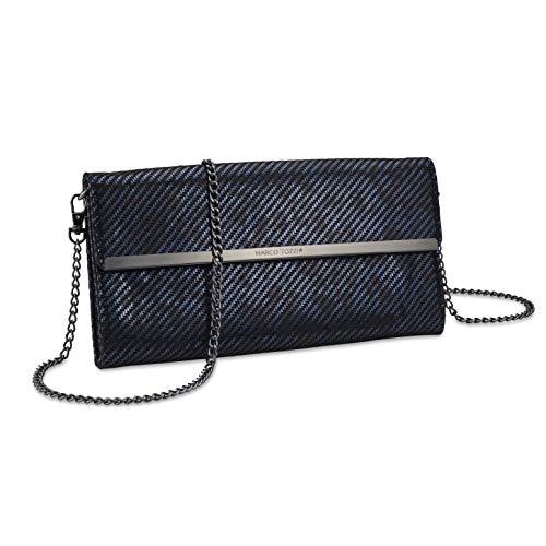 MARCO TOZZI Damen Handtasche 2-2-61004-25, Navy METALLIC, 1 EU