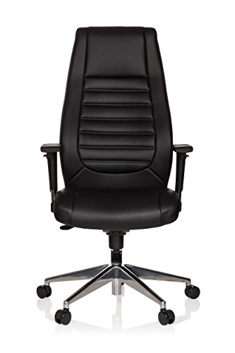 hjh OFFICE 600985 XXL Chefsessel VITORO Kunstleder Schwarz Schreibtischstuhl mit hoher Rückenlehne