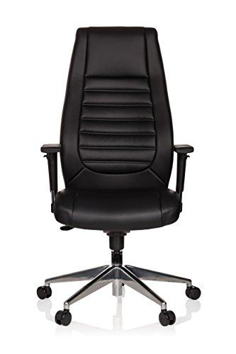 hjh OFFICE 600985 Sedia da Ufficio/Sedia Presidenziale VITORO Similpelle Nero