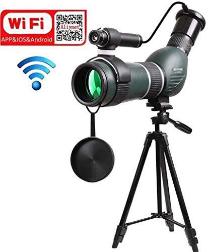 LFDHSF 20-60X60 Spektiv Monokulare mit WiFi Wireless Connect mit Smartphone APP Teleskop mit großem Stativ Telefon Adapter für Outdoor Trip