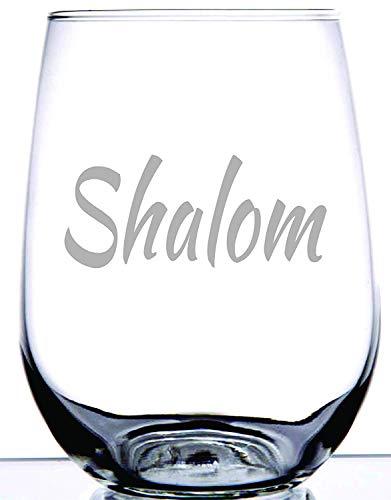 Geboren voor-Anime (15 Ounce - Eeuwige Graveren Patronen Rode Wijnglas Goede Handheld Gepersonaliseerde Boss Present,Shalom is permanent geëtst op steelloze wijnglas