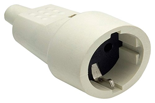 MicroConnect IC-2104-B Toma eléctrica schuko hembra G, Blanco, 1