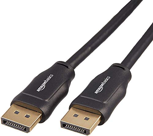 AmazonBasics - Cable adaptador DisplayPort a DisplayPort - 4,6 m