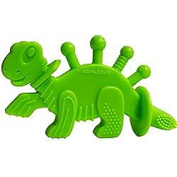 7. Bambeado Store Dinosaur Baby Teether Toy and Training Toothbrush