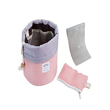 Waterproof Travel Makeup bag Bathroom bag Travel Kit Organizer Cosmetic Bag Carry On Case Bag(Pink)