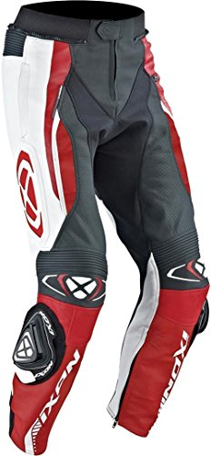 Ixon Vortex Motorrad Lederhose Schwarz/Weiß/Rot 60