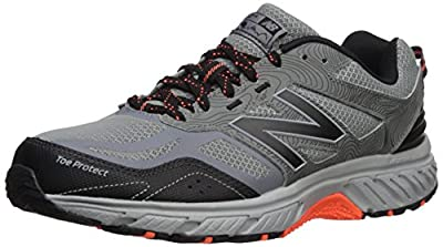 New Balance Men's 510 V4 Trail Running Shoe, Gunmetal/Black, 10 XW US