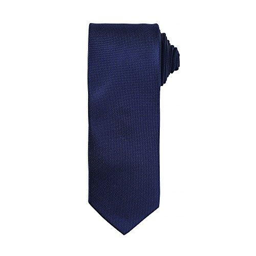 Premier - Corbata formal para hombre (Talla Única/Azul marino)