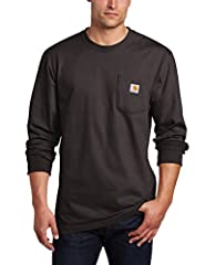 100% cotton, midweight Rib-knit crewneck and cuffs hold their shape throughout the workday left chest pocket. Side-seam construction keeps the fit secure Machine wash warm - like colors Imported