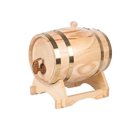 JIJIHAO JIUTONGCan 5L Liter Eichenweinfass Weinfass Holzfass Weißweinfass Weindekoration Holzfass Weinfass (Farbe : Holzfarbe)