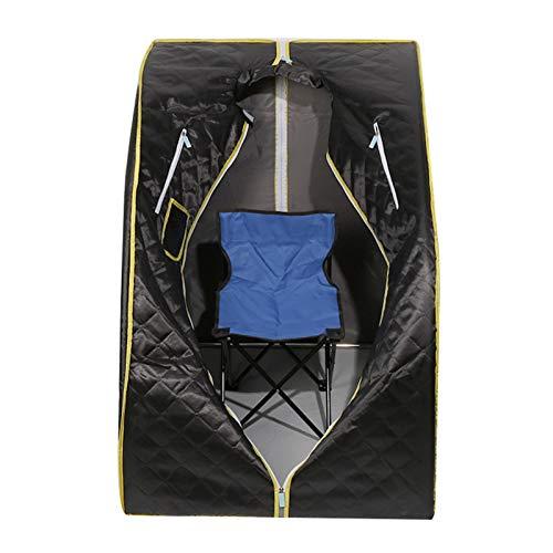 Zuhause Dampfsauna, Portables Dampfbad mit Dampferzeuger 1,8 L,Saunas SPA Entschlackung und zum Gewichtverlieren,1000W 220V (Schwarz)