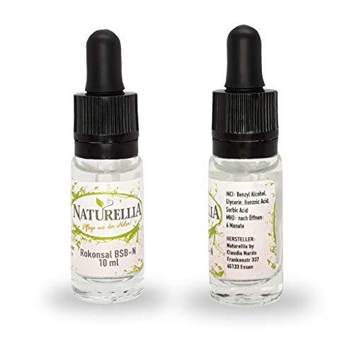 Naturellia Pflanzliches Konservierungsmittel Rokonsal BSB-N 10 ml Zur Konservierung von Naturkosmetik geeignet Verhindert die Entstehung von Schädlingen und verlängert die Haltbarkeit