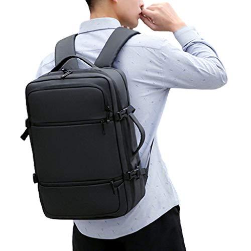 HONGER Travel Laptop Backpack, Business Anti-Theft Laptop Backpacks with USB Charging Port School Bookbag Computer Bag for Men Women Fits 15.6 Inch Laptop Business School Outdoor,Black