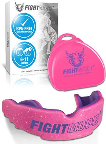 weletix Kinder Sport Mundschutz | 6-11 Jahre - Pink/Lila für Mädchen | Angenehmes Tragegefühl | Zahnschutz mit sicherem Halt im Kampfsport, Boxen, MMA, Kickboxen, Fussball, Handball, Hockey