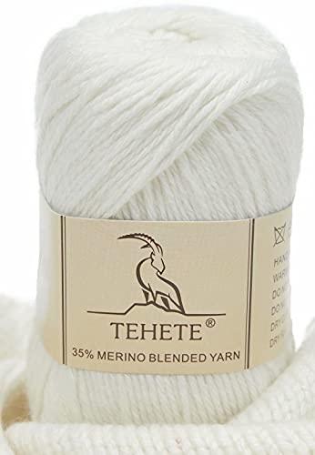 TEHETE 35% Filato di lana merino, peso della diteggiatura, filato per maglieria a mano e uncinetto, 008