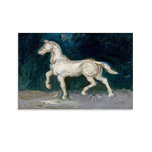 YUMAO Póster de la lona de Vincent Van Gogh con diseño de caballo y decoración de pared, diseño moderno de 50 x 75 cm