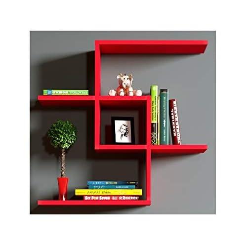 etagere cube rectangle rouge