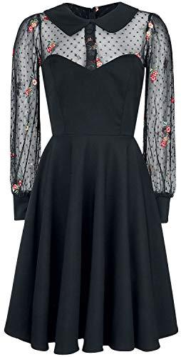 Belsira Lacedress Frauen Mittellanges Kleid schwarz XL
