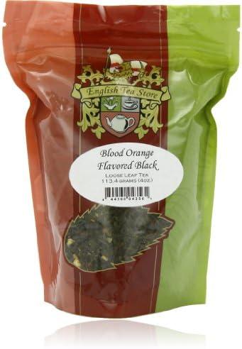 English Tea Store Loose Leaf Blood Orange Flavored Black Tea 4oz 4 Ounce product image