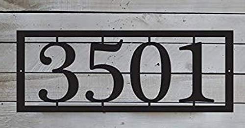 EvyAnn Designs Horizontal House Number Plaque, Door Number, Metal House Number, Address Number, Mailbox Numbers, House Sign, Address Plaque