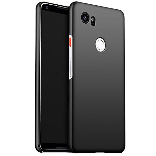 INSOLKIDON Compatible con Google Pixel 2XL Funda PC Cáscara Dura Ultrafino Simple Teléfono Protector Cáscara Proteccion Cubierta Protectora (Negro)