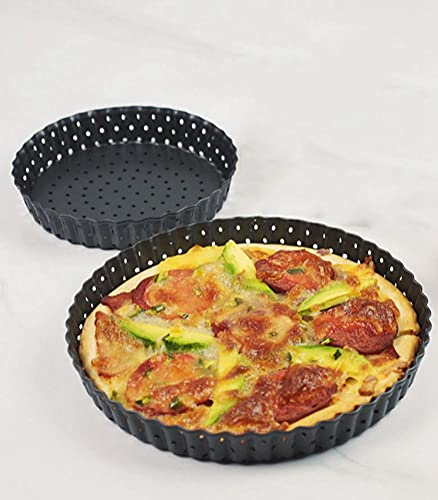 Pizza Bakvorm, Pizza Pan Met Gaten 10 Inch Anti-aanbak Koolstofstaal Bakvormen Ronde Pizza Scherper Pan Pizzabak, Voor Home Restaurant Keuken Zwart