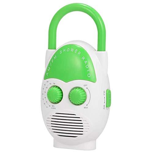 Pumprout Duschradio Mini-Lautsprecher AM FM Hängendes Duschradio Batteriebetriebener tragbarer Knopf Einstellbares Radio für Heimduschen