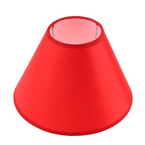 MagiDeal Abat-jour Lustre Lampe Suspendue Ombre Forme en Cône pour Plafonnier E27 Art Tissu Décor Chambre Salon - Rouge