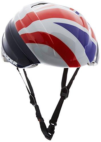 Lazer Casco británico para Ciclismo Aeroshell Z1, Unisex, Z1 British Cycling Aeroshell, Blanco/Plateado