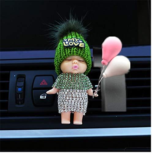 NO LOGO Jiandong Muster Outlet Sonnenbrille Auto Lufterfrischer Träger-Auto-Duftstoff-Zusätze Aromatisierung Clip Ornament Cartoon Geruch Duft (Color Name : Apricot)