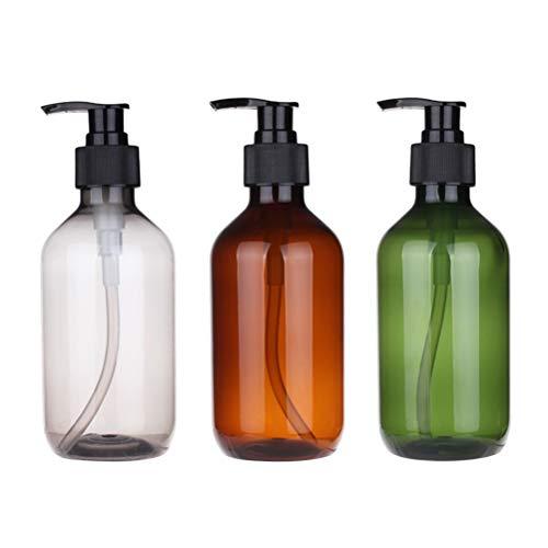Lurrose 3 stücke 500 ml Seifenspender Flaschen Pumpe Nachfüllbare Leere Flaschen für Flüssigseife Shampoo Lotionen Handspender Küche Bad(Zufällige Farbe)