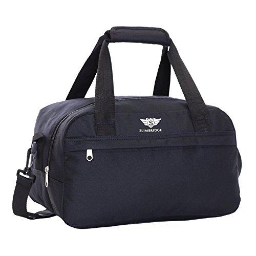 Slimbridge 40x20x25 cm New and Essential 2020 Ryanair Maximum Size Under Seat Cabin Holdall Bag – The Max Allowance on Board, Mora Black