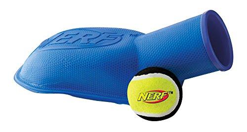 Nerf Dog Tennis Ball Stomper - Ballkanone in blau und rot 30,5 cm