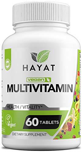 Hayat Vitamins Vegan Natural Multivitamin, Certified Halal, 60 Tablets