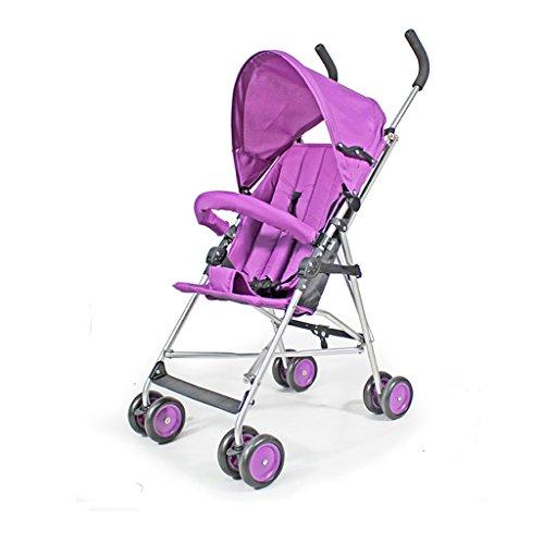 Jianxin kinderwagens zijn superlichte, eenvoudige en kleine klapwagens voor baby's en kinderen, om in het vliegtuig te komen. (Kleur: paars)