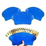 RoadLoo Soporte Juego de Cartas, 4 Piezas Azul Plastic Soporte Naipes Playing Card Holder Curvado Diseño Estable Poker Rack Titular para Niños Adultos y Ancianos Personas con Mal Agarre Artritis