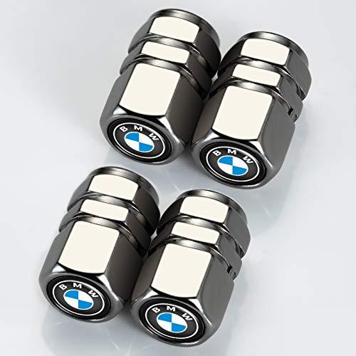 Car Wheel Tire Valve Stem Caps Logo Personality Modification Valve Cap Modeling Accessories Suit for BMW X1 X2 X3 X4 X5 X6 X7 Z4 M i3 i8 2 3 4 5 6 7 8 Vehicles (4PCS Grey)