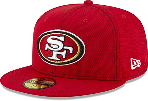 New Era Gorra Oficial San Francisco 49ers NFL Sideline Road 59fifty para...