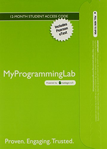 MyLab Programming with Pearson eText -- Access Card -- for Introduction to Programming Using Python (MyProgrammingLab (A