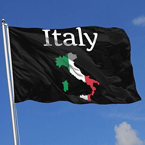 Zudrold Banderas al Aire Libre Italia Mapa Bandera Bandera para fanático de los Deportes Fútbol Baloncesto Béisbol Hockey