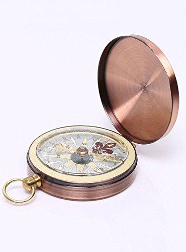 MMY Kompasstasche, tragbar, für Reisen, Outdoor, Navigation, Camping, Wandern, Survival-Werkzeug (Bronze)