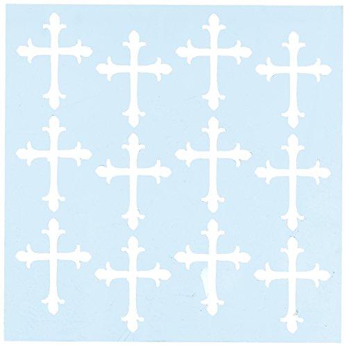 "CLEARSNAP Clear Scraps CSSMROMCROSS6 Stencils, 6"" x 6"", Roman Crosses, Blue"