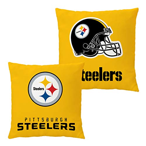 Doomfist Throw Pillow Covers Pillow Cases Pillowcase Double Faced Football Team with Zipper Without Insert 1 Set for Sofa, Car, Bed, Office Chair, Lumbar Support (Pittsburgh Steelers, 18x18 Inches)