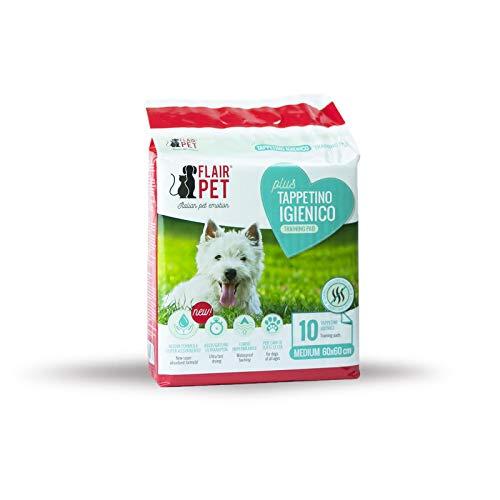 Flair Pet Tappetini igienici Training Pads Ultra assorbenti Anti-Odore 60x60 10pz