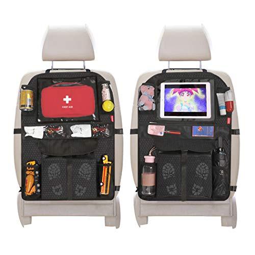 Acomon Auto Rückenlehnenschutz, 2 Stück Auto Trittschutz mit Rücksitz Organizer für Kinder, Autositz-Schoner Organizer Wasserdicht mit iPad-Tablet-Fach Kick-Matten-Schutz für Autositz