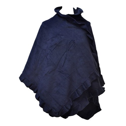 TOUTACOO, Poncho Cape aus Fleece - Damen 07-Blau
